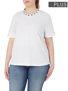 calvin-klein-jeans-plus-sizenbsplogo-trim-short-sleeve-t-shirt-white