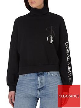 calvin-klein-jeans-oversized-sweatshirt-with-roll-neck-black