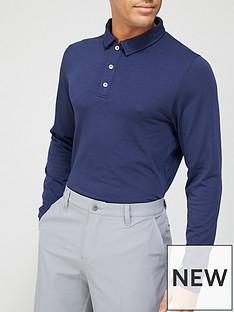 kjus-golf-scotnbsplong-sleevenbsppolo-blue
