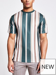 river-island-maison-badge-stripe-tee-navy