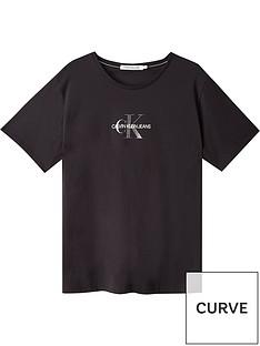 calvin-klein-jeans-plusnbspglitter-monogram-t-shirtnbsp--black