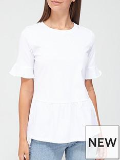 v-by-very-jersey-woven-mix-peplum-t-shirt-white