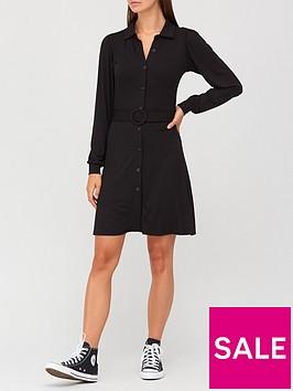 v-by-very-long-sleeve-belted-shirt-mini-dress-black