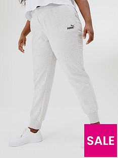 puma-plus-essential-cuffed-fleecenbspsweat-pants-light-grey-heather