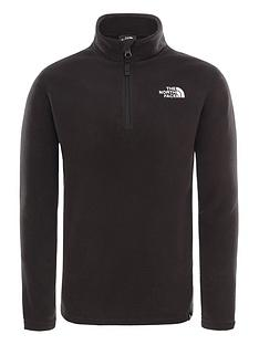 the-north-face-childrensnbspglacier-14-zip-fleece-black