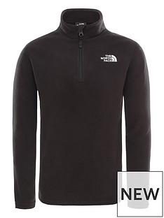 the-north-face-childrensnbspglacier-14-zip-fleece-black