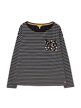 joules-marina-print-dropped-shoulder-jersey-top-navy
