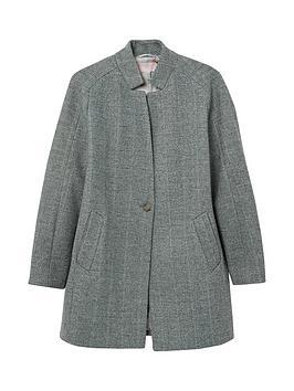 joules addington herringbone coat - grey