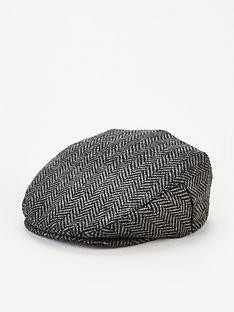 very-man-herringbone-flat-cap-grey