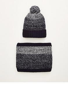 very-man-borg-lined-hat-amp-snood-set-grey