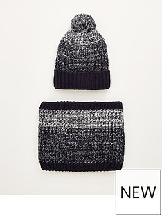 very-man-borg-lined-hat-amp-snood-set-grey