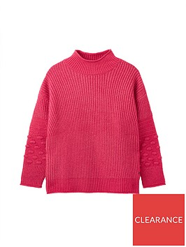 joules-kalia-bubble-stitch-sleeve-jumper-pink