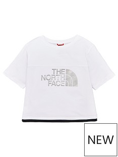 the-north-face-girls-cropped-short-sleevenbsptee-white