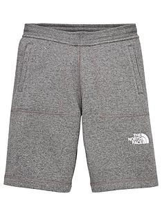 the-north-face-fleece-shorts-grey