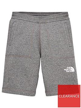 the-north-face-fleece-shorts-grey