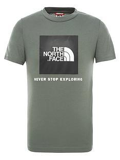 the-north-face-childrens-short-sleeve-box-tee-khaki