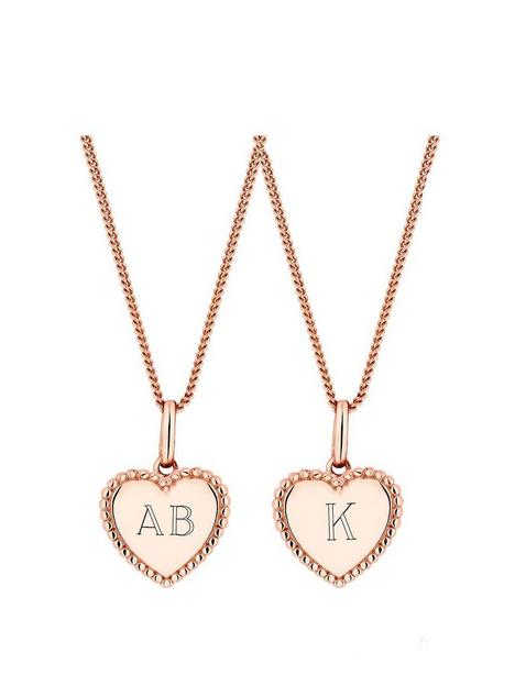 simply-silver-rose-gold-plated-sterling-silver-personalised-engravable-beaded-edge-heart-pendant