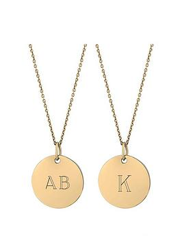 simply-silver-gold-plated-sterling-silver-personalised-engravablenbspdisc-pendant