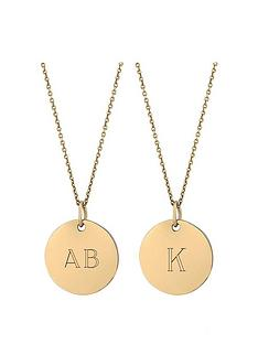 simply-silver-simply-silver-gold-plated-sterling-silver-personalised-engravable-yellow-gold-disc-pendan