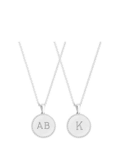 simply-silver-simply-silver-sterling-silver-personalised-engravable-beaded-edge-pendant