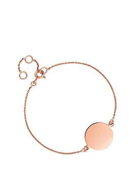 simply-silver-simply-silver-rose-gold-plated-sterling-silver-personalised-engravable-disc-bracelet