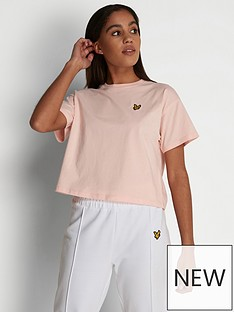 lyle-scott-crop-t-shirt-pink