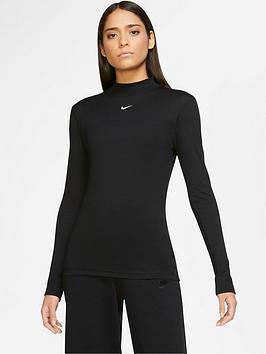 nike-nsw-mock-neck-long-sleevenbsptop-black