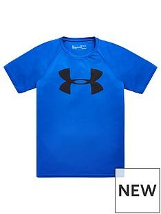 under-armour-childrensnbsptech-big-logo-short-sleevenbsptee-blue