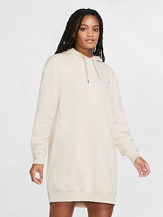 nike-nsw-hooded-dress-oatmeal