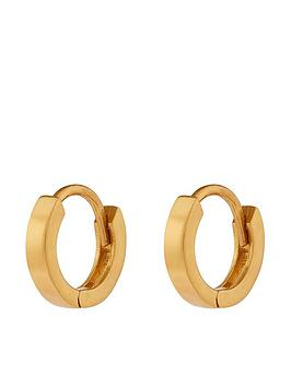 accessorize-plain-mini-huggie-hoop-gold
