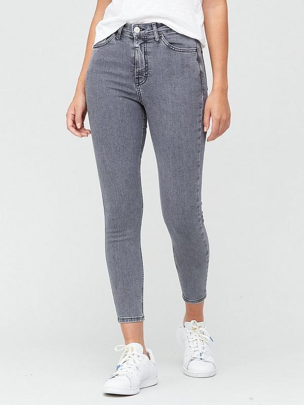 Bulk Springboard autumn  V by Very Short Premium High Waist Skinny Jeans - Grey | very.co.uk