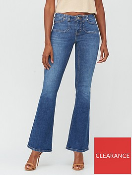 v-by-very-premium-flare-jean-dark-wash