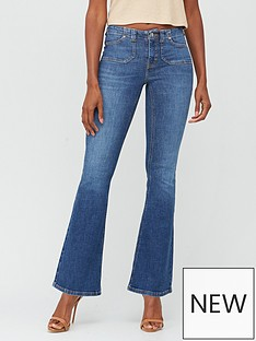 v-by-very-premium-low-rise-flare-jean-dark-wash