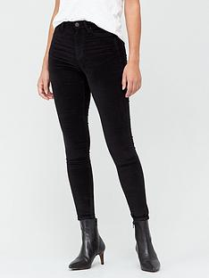 v-by-very-premium-high-waist-velvet-skinny-jean-black