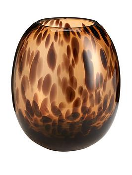leopard-effect-glass-vase