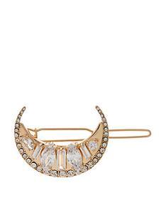 accessorize-embellished-crescent-clip-gold