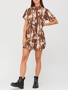missguided-missguided-shirt-tie-dye-smock-dress-brown