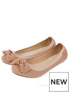 accessorize-elasticated-suede-bow-ballerina-flatsnbsp--nude