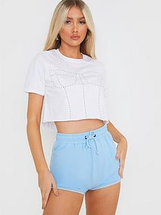 in-the-style-in-the-style-x-francesca-farago-contrast-binding-runner-shorts-blue