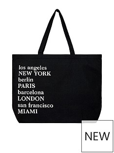 accessorize-organic-large-city-shopper-black