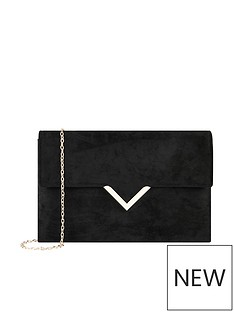 accessorize-natalie-suedette-clutch-black