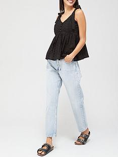 missguided-missguided-broderie-bow-shoulder-strappy-smock-top