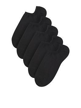 accessorize-basic-5-packnbspbamboo-trainer-socknbsp--black