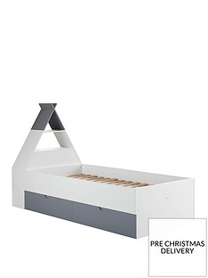 lloyd-pascal-teepee-bed-with-storage-headboard-greywhite