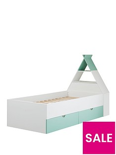 lloyd-pascal-teepee-bed-with-storage-headboard-greenwhite