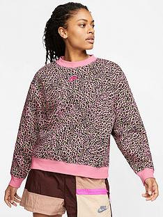 nike-nswnbspall-over-printnbspcrew-sweatshirt-pinknbsp