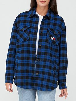tommy-jeans-flannel-overshirt-blue