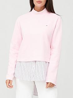 tommy-jeans-solid-hybrid-long-sleeve-jumper-pink