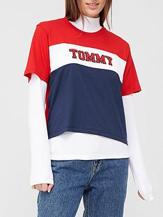 tommy-jeans-colorblock-stripe-tee-white