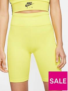 nike-nsw-air-bike-shorts-yellow